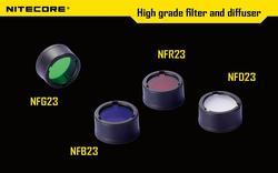 Frete grátis 1 pc nitecore filtro de cor (22.5mm) nfb23 nfr23 nfg23 nfd23 adequado para a lanterna com cabeça de 22.5mm