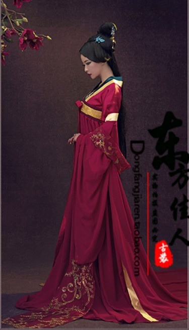Yu Meng Red Tang Suit High Waist Ruqun Tang Costume Palace Maid Photography Or TV Play Costume For Women