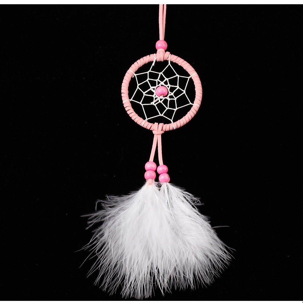 Car interior hanging - Handmade Dreamcatcher Hanging Ornaments Car Interior Indian Style Religious Mascot Wind Chimes Feather Dream Catcher