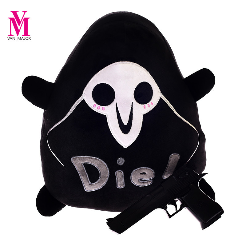 1pc 45*30cm Over Game Over Watch OW Staffed Plush Pillow Pachimari Plush Death Pillow Creative Funny Toys Gift