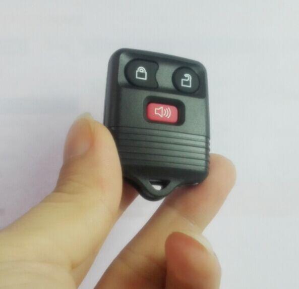 2 pçs novo escudo chave para ford keyless entrada remoto chave 3 botões vazio escudo só