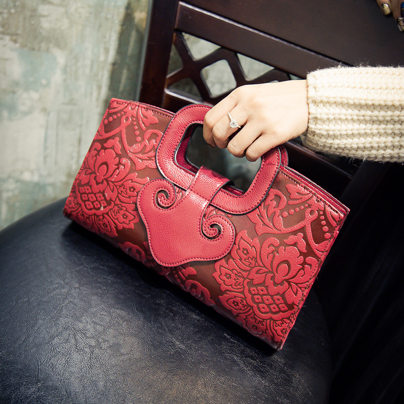 Fashion personality ethnic style retro print handbag ladies mini shoulder bag across body messenger bag wallet purse flap totes