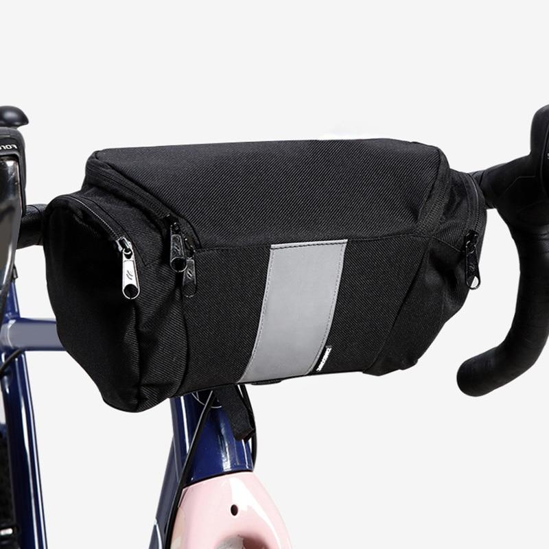 Oxford Cloth Cycling Bike Bicycle Sports Handlebar Bag Waist Bags Holder Pouch