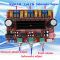 DC12V-24V 50w + 50W+100W 2.1 Channel digital Subwoofer TPA3116D2 Amplifier Board module
