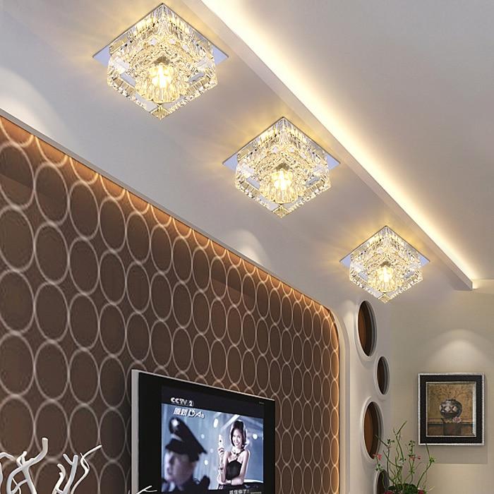 LED crystal lamp super bright lights aisle porch ceiling new lamp lighting SD127 mini porch ceiling light super bright mini led ceiling lamp aisle corridor lighting fixture ac110 240v