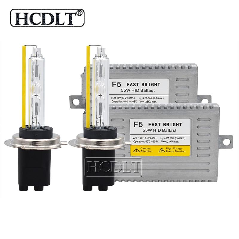 HCDLT 55 W xénon D2H 9012 HID Kit phare AC 55 W démarrage rapide DLT F5 voiture lumière Ballast 5500 K HID H1 H11 HB3 HB4 H7 Kit ampoule xénon