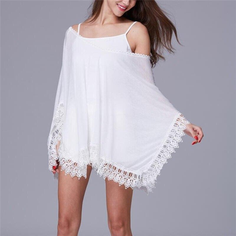 Cover-up Beach Wear Beachwear Summer Kaftan Swimwear Dress White Bikini Swinwear Bathing Suit Cover Up Plage 1