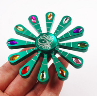 Peacock Open Screen Twelve Leaf Diamond Fidget Spinner Hand Spiner Toy High Speed EDC Focus Anxiety