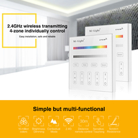 Milight T3 AC220V 4 Zone RGB RGBW And Brightness Dimming Smart Panel Remote Controllerr For Led