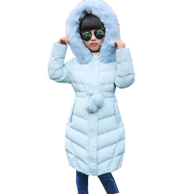 premium selection fbe26 cdb43 US $68.68 50% di SCONTO|Ragazza Giacche Invernali 2016 X Lungo Addensare  Warm Snowsuits Con Cappuccio Cappotti Per ragazze Tuta Sportiva di Inverno  ...
