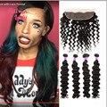 HALO LADY HAIR 3 or 4 Bundles Brazilian Loose Deep Wave Hair With Loose Wave Full Lace Frontal Closure (13x4) Virgin Human Hair