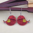 1 pair red bird cute...