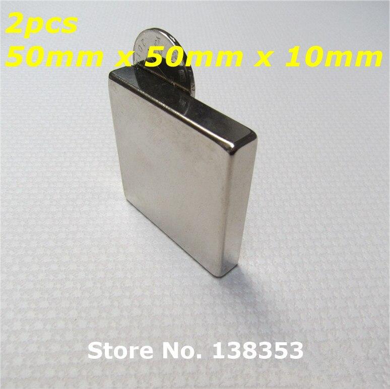 2pcs Bulk Super Strong Neodymium Square Block Magnets 50mm x 50mm x 10mm N35 Rare Earth NdFeB Cuboid Permanent Magnet 1pc 30 x 20 x 10mm strong block cuboid rare earth neodymium magnets n50 permanent magnet powerful magnet square magnet