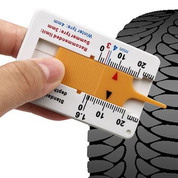 Auto bieżnik opony głębokość Depthometer Gauge suwmiarka cyfrowa akcesoria samochodowe motocykl opona do przyczep narzędzie do pomiaru koła Repair Tool tanie i dobre opinie Plastic Tire Pattern Depth Ruler 0-20mm +-0 1mm