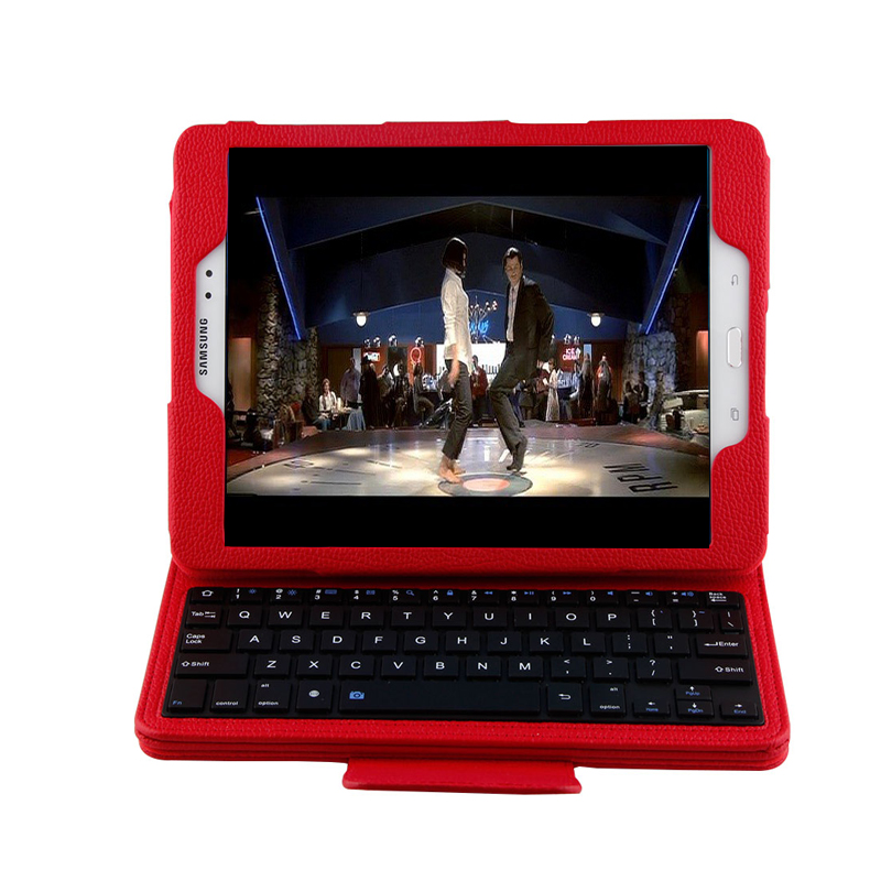 ФОТО High Quality PU Leather Detachable ABS Wireless Bluetooth Keyboard  Case Cover For Samsung Tab 10.1