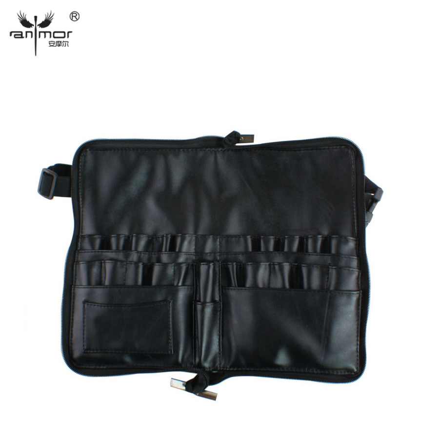 Anmor New Design Portable Artist Brush Bag With Zipper and Belt black skater skirt with zipper and button design