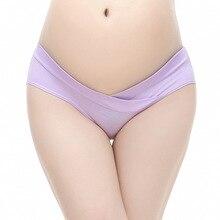2017 New fashion pregnant women underwear cotton low waist plus size care belly women underwear comfortable Women's panties