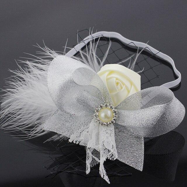 24pcs lot Girls Fur Headband Rosette Flower Headband Kids Children Luxury  Hair Bow Headbands with Rhinestone 455c6a99ab0