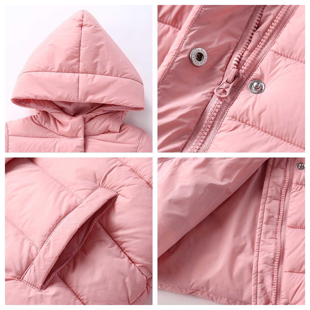 Balabala 2018 kurtki parka dla dziewczynek chłopców płaszcze bawełniane drukowane zimowe ciepłe dziewczyny dół kurtki dzieci odzież bawełniana z kapturem
