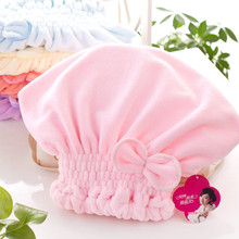 Women Bathroom Super Absorbent Quick-drying Microfiber Bath Towel Hair Dry Cap Salon 33x18cm