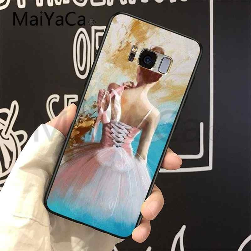 MaiYaCa حالة ل غالاكسي S9 الباليه راقصة فتاة الكمال بارد لينة الهاتف حقيبة لهاتف سامسونج غالاكسي S4 S5 S6 S7 S8 S9 s6 حافة S7 حافة