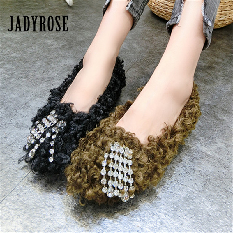 Jady Rose Women Flat Shoes Casual Espadrilles Slip On Loafers Fashion Fur Boat Shoes Creepers Platform Ladies Moccasin Flats women s flat shoes summer 2018 graffiti loafers women slip on canvas espadrilles platform shoes ladies