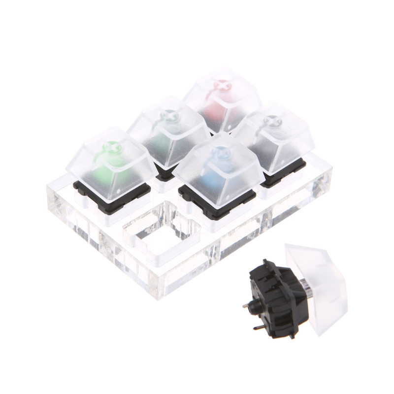 1 Set <font><b>Mechanical</b></font> <font><b>Keyboard</b></font> Clear Keycaps 6 Key Caps Swit6X <font><b>Tester</b></font> Kit For Cherry MX New And High Quality image
