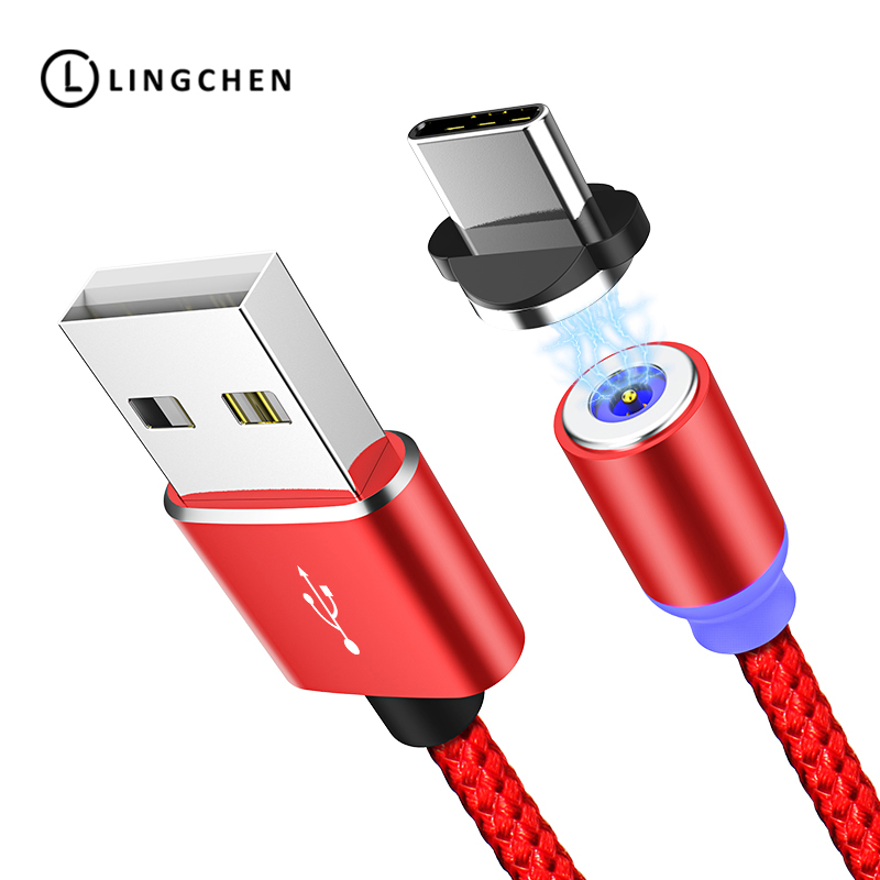 Handy Kabel Gut Ausgebildete Lingchen Magnetische Usb C Kabel Für Samsung S9 S8 Plus Magnetische Usb Typ C Ladegerät Kabel Typ-c Für Huawei Magnet Usb-c Kabel 1 Mt Hochglanzpoliert