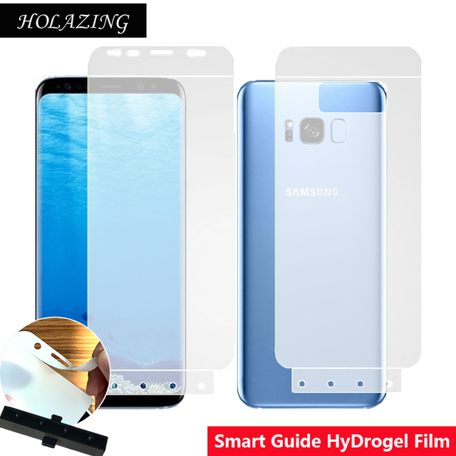 Smart Guide Tool Soft AUTO Fixed Hydrogel Film Full Cover Screen Protector for Samsung Galaxy S8 Plus Optional Front & Back