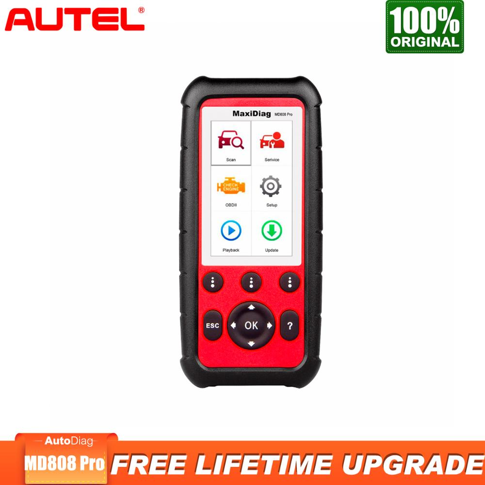 Autel MD808 Pro OBDII Diagnostic Tool Auto OBD2 Scanner Car Diagnostic Code ReaderABS SRS EPB BMS Better MD802 MD805 image