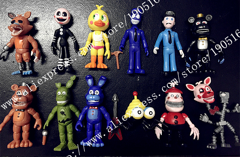 12Pcs/set Five Nights Toys At <font><b>Freddy's</b></font> Foxy <font><b>Gold</b></font> <font><b>Freddy</b></font> Chica <font><b>Freddy</b></font> PVC Action <font><b>Figure</b></font> Collectible Toys Christmas Toys