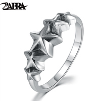 ZABRA Cool 925 Silver Ring For Men Women Five Stars Simple Fashion Style Small Rings Jewelry