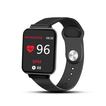 B57 Smart watches Waterproof Sports for iphone phone Smartwatch Heart Rate Monitor Blood Pressure Functions For Women men kid Digital Watches Smart Watches Women's Watches Wrist Watches color: Black Size: without box
