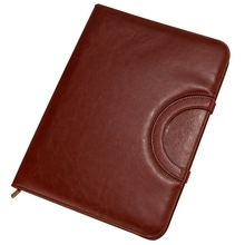 A4 Folder Multi-Function Portable Zipper Bag Folder Manager Clip Sales Entrainment Calculator Amount 2018 business office manager of leather multi function folder high grade leather a4 sales folders can be customized logo