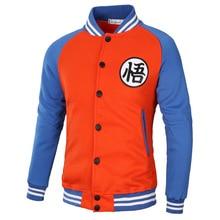 Dragon Ball Z Men Jacket Patchwork Casual Baseball Uniform Coat Male Streetwear