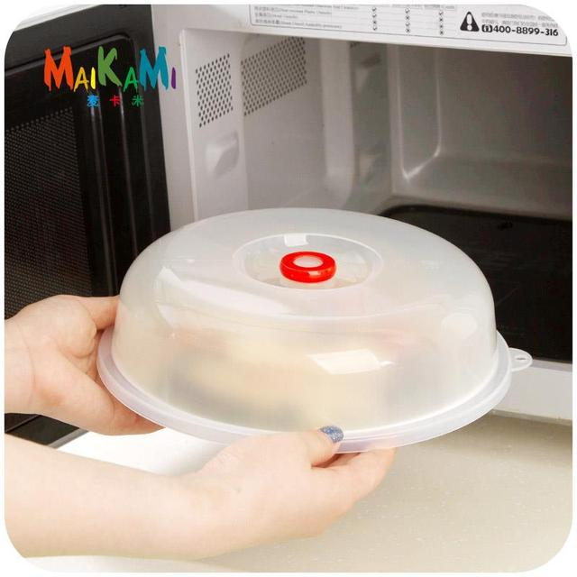 Maikami Reusable Plastic Food Cover Microwave Oven Oil Cap Heated Sealed Multifunctional Dish Dishes Dust