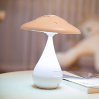 Creative Mushroom Desk Lamp Negative Ion Air Purifying LED Lamp Smoke Cleaner Rechargeable Touch Control Night