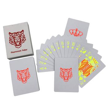 Najwyższej klasy kreatywność fluorescencja Poker Texas Hold #8217 em Baccarat karty do gry z pcv wodoodporne karty do pokera gry planszowe 2 48*3 46 cala tanie i dobre opinie qenueson 6 lat Cartoon kategoria Normalne YL00085 Nieograniczona 31-60 minut Książka Chips Podstawowym Z tworzywa sztucznego