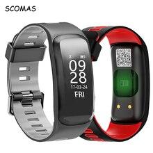 Scomas F4 Smart Band Водонепроницаемый Bluetooth Приборы для измерения артериального давления сердечного ритма Мониторы интеллектуальные Часы Фитнес Tracker спортивный браслет