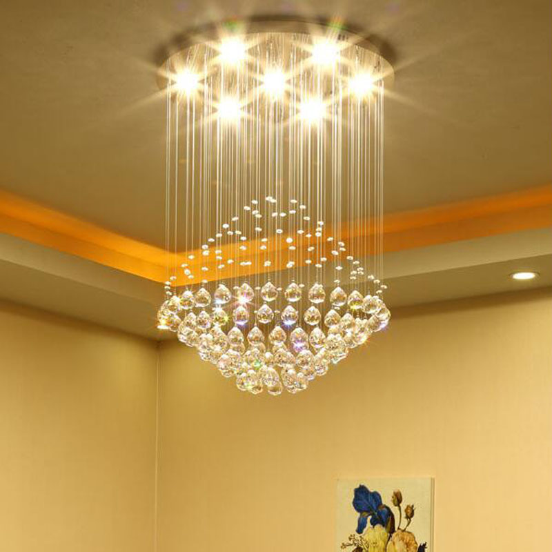 Modern minimalist round LED chandelier restaurant lights bedroom lamps LED lighting fixture crystal led lighting Hanging lamps