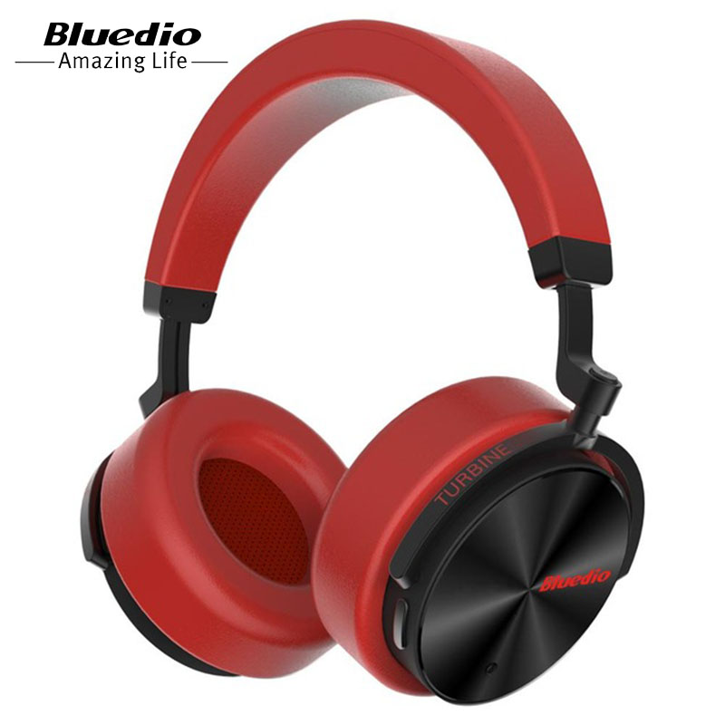 Bluedio headphone T5 Active Noise Cancelling headset with microphone for phones and music earphone awei a950bl bluetooth headphone noise cancelling wireless earphone cordless headset with microphone casque earpiece kulakl k