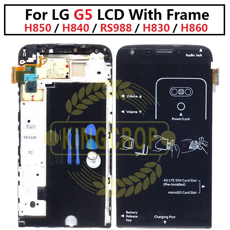 """5.3"""" new for LG G5 LCD H850 H840 RS988 with Frame Replacment Screen for LG G5 SE LCD Display Touch Screen H830 H860-in Mobile Phone LCD Screens from Cellphones & Telecommunications"""