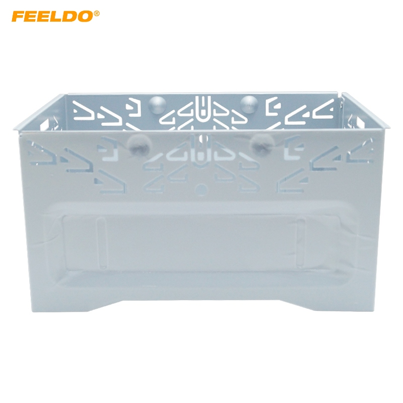 FEELDO 1Pc Car Stereo Audio Reposición Panel de marco facial para instalación ISO 2DIN Jaula de metal # FD-3588