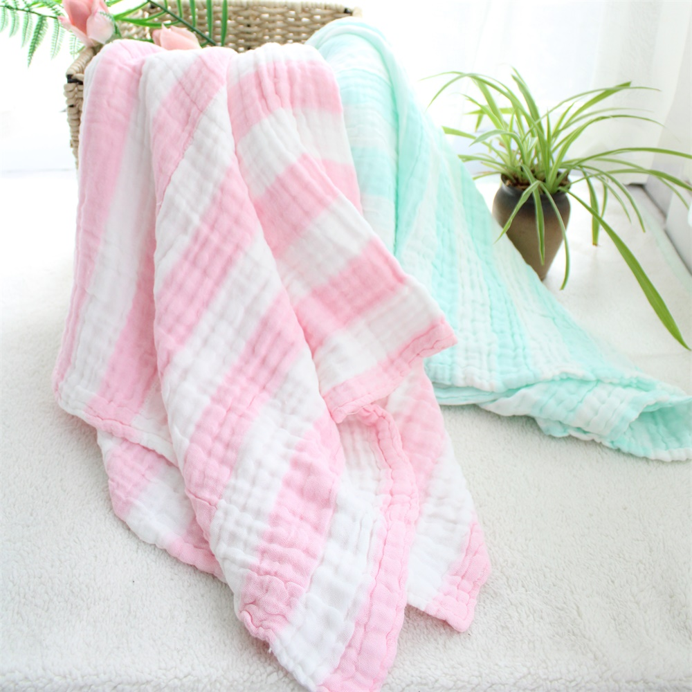 6 Layers 100%Cotton Super Soft Thick Multi-usage Skin Friendly Muslin Baby Receiving Blanket Bath Towel Newborn Swaddle Quilt