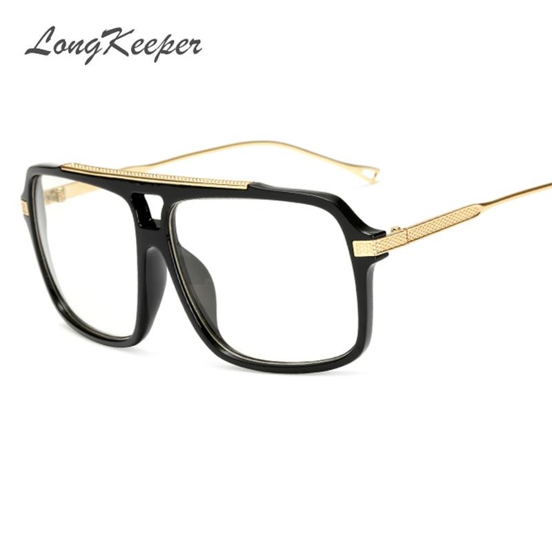 LongKeeper Flat Top Hot Square Sunglasses Men Brand Design Couple Sun Glasses Super Ssta ...