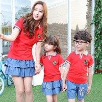 2017 New Spring Summer Family Dress Uniforms Boys Girls Class Pupils Suit Kindergarten Children Sports School