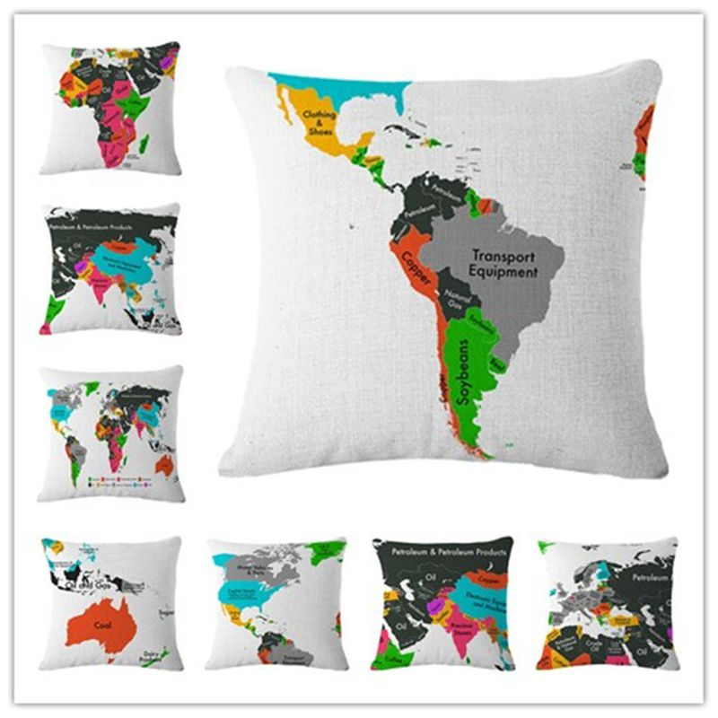 Popular Us Map Pillow CaseBuy Cheap Us Map Pillow Case Lots From - Us map pillow