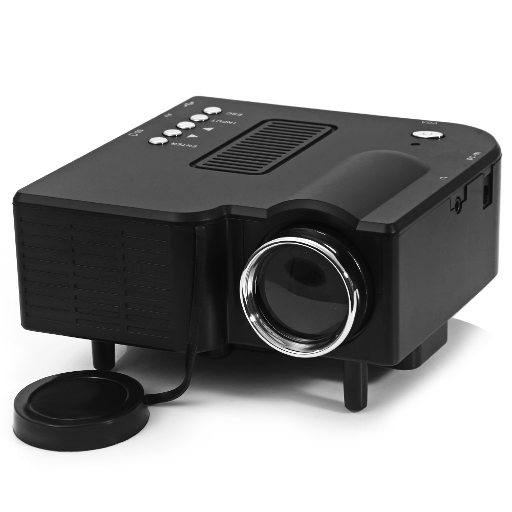 UC-40 Home Mini LED Projector Two Colors High Definition 400 Lumens 24W Support AV/SD/VGA/HDMI for Games/TV/Home Theater