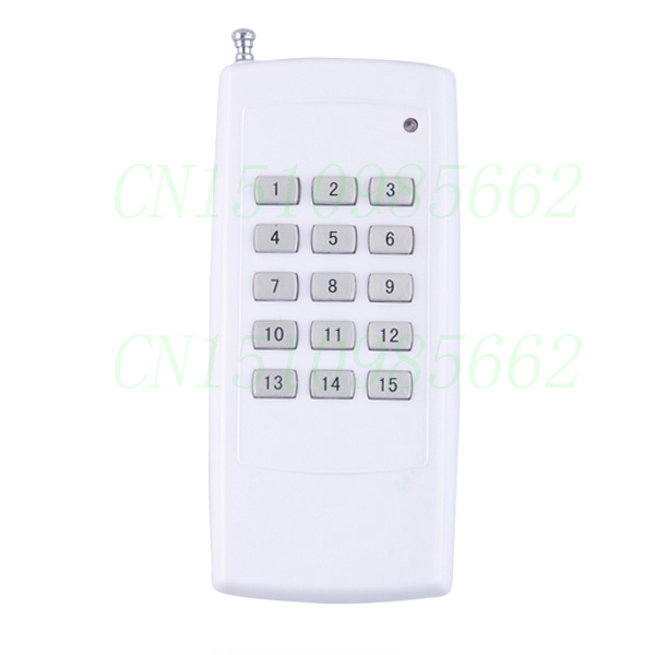 HOT 3000M Long Range /Distance High Power 15CH 433MHZ 15 Buttons RF Wireless Remote Control/Radio Controller/Transmitter 0 1 2 4ghz rf power meter frequency range 100 2400 mhz 65 0 dbm 1nw 1w
