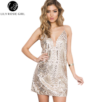 Lily Rosie Girl Women 2017 Khaki Sexy Off Shoulder Summer Night Club Mini Dress Hollow Out